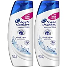 Head and Shoulders Classic Clean 2 in 1 Anti Dandruff Shampoo and Conditioner, 23.7 Fl Oz (Pack of 2)