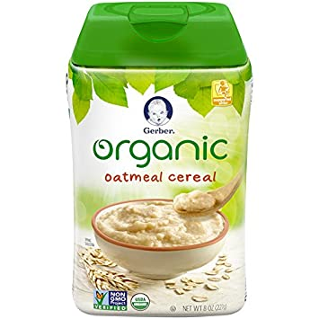 Amazon gerber baby cereal organic oatmeal 8 ounce prime pantry gerber baby cereal organic oatmeal 8 ounce ccuart Images