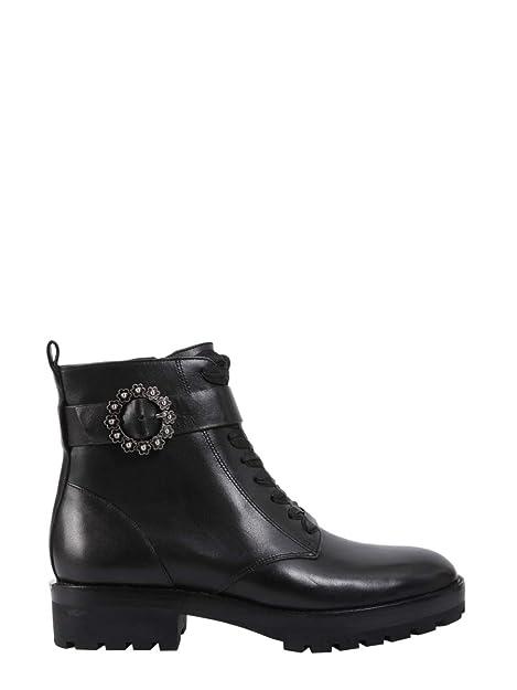 Michael By Michael Kors Mujer 40T8RYFB5L001 Negro Cuero Botines: Amazon.es: Zapatos y complementos