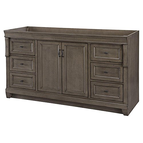 Naples 60 in. W Vanity Cabinet Only in Distressed Grey