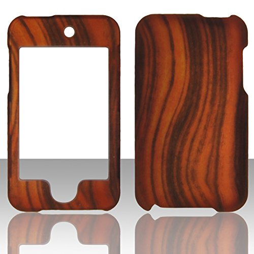 Rubberized Faceplate Phone - 2D Wood Design Apple Ipod Touch 2nd 3rd Generation (2 , 3) Case Cover Hard Phone Case Snap-on Cover Rubberized Touch Faceplates