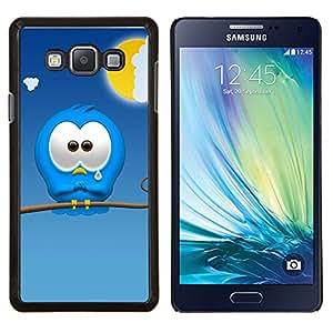 YiPhone /// Prima de resorte delgada de la cubierta del caso de Shell Armor - Triste personaje de dibujos animados monstruo azul lindo del arte - Samsung Galaxy A7 A7000