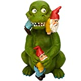 Dino the Gnome Eating Dinosaur – Designed and Hand Painted by Twig & Flower
