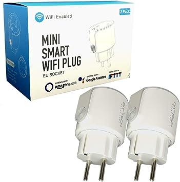 Enchufe Inteligente Wifi DIYtech Inalámbrico con Monitorización de Energía, Compatible con Alexa y Google Home, App gratuita y facil de configurar (Pack 2 unidad): Amazon.es: Bricolaje y herramientas