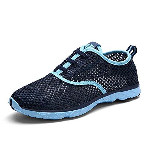 Joansam Womens Quick Dry Aqua Water Shoes Blu