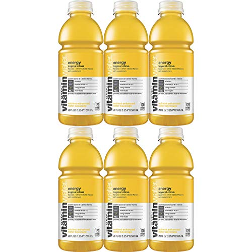 (Vitamin Water Energy - Tropical Citrus, 20 Fl Oz Bottle (Pack of 6, Total of 120 Fl Oz))