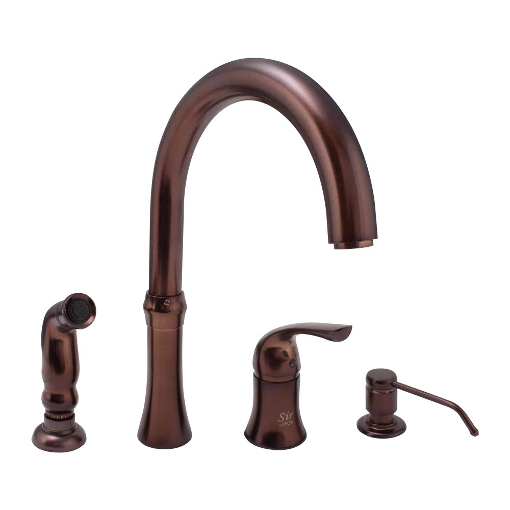 710-ORB Oil Rubbed Bronze 4 Hole Kitchen Faucet - Touch On Kitchen ...