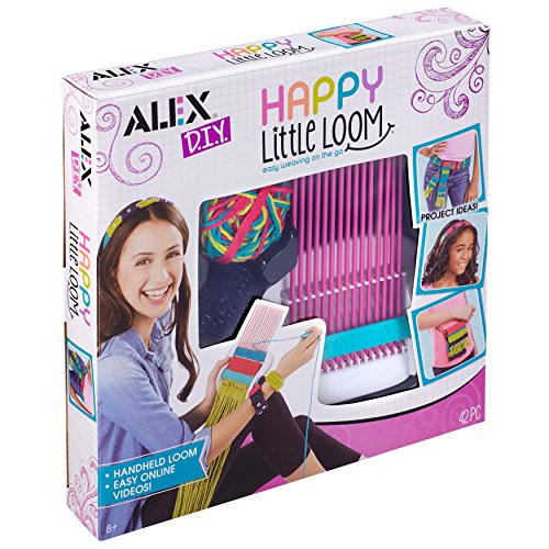 ALEX Happy Little Loom Kit Portable hand held loom that weaves in different widths
