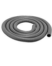 uxcell Conduit Tube 2m/6.6ft Length 1/2-inch ID Corrugated Conduit Pipe Hose Flexible Tubing