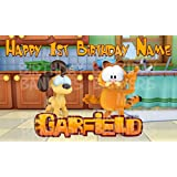 Garfield show Birthday Party Banner Personalized/Custom Decoration