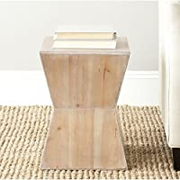 Safavieh American Homes Collection Lotem Red Maple Accent Table