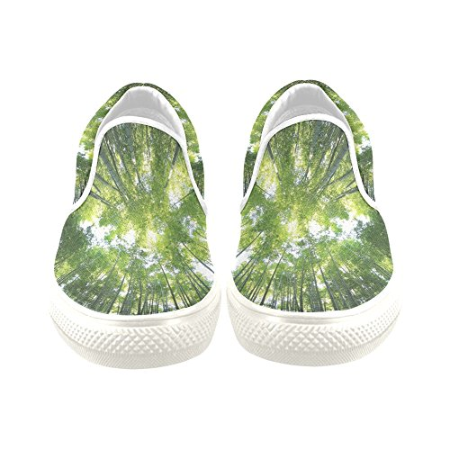 D-story Custom Sneaker Tree Forest And Sky Donne Insolite Slip-on Scarpe Di Tela