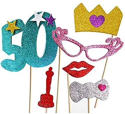 Plaers Urbans Kit de Photocall Mujer Felices 50 años con 6 ...