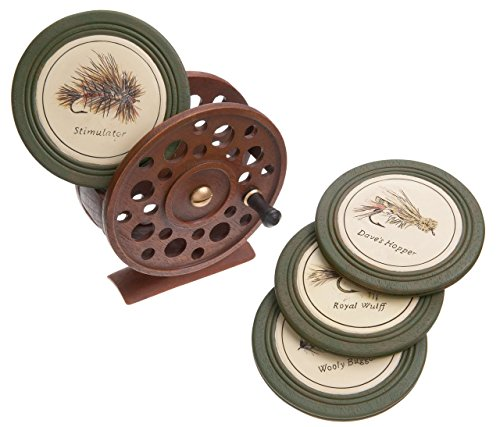 Fishing Art Fly (DEMDACO Carvers Fly Reel Coaster Set)