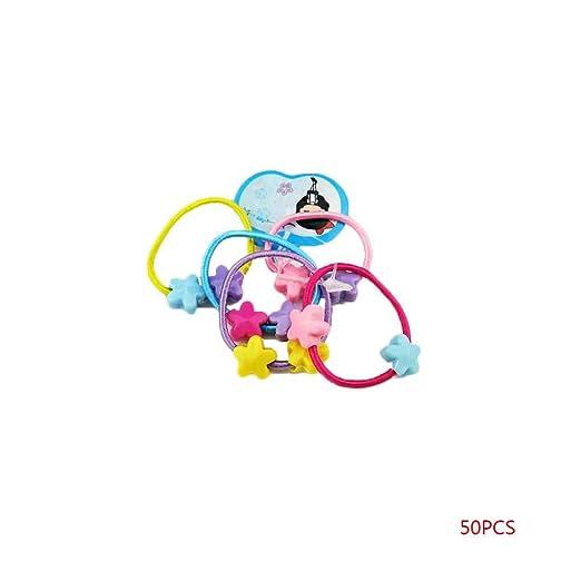 Bobury/Set 50Pcs Little Girl Band Cabello Caramelos Colores ...