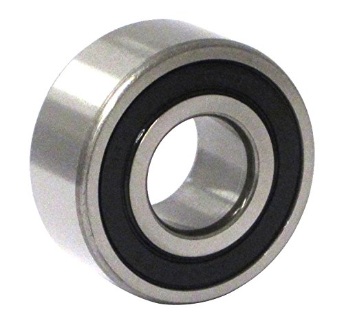 C&U 3202-2RSLC3 Double Row Angular Contact Ball Bearing, ABEC1 Precision, Improved Double Seal, Nylon 66+25% Glass Filled Cage, C3 Clearance, 15 mm Bore, 32 mm OD, 15.9 mm Width, 6.78 kN Static Load Capacity, 11.34 kN Dynamic Load Capacity (Bearings Contact Angular Ball Row)