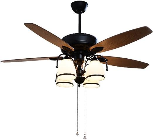 Ventilador de techo Con Luces Luz De Techo para Sala De Estar Luz ...