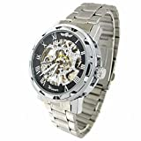 Youyoupifa Black Dial Stainless Steel Strap Hand-winding Mechanical Movement Men's Watch, Watch Central