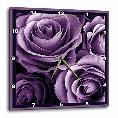 3D Rose dpp_29807_1 3dRose Close up of Dreamy Lavender Purple Rose Bouquet-Wall Clock - Wall Clock Bouquet