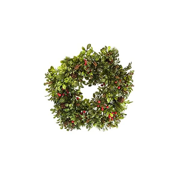 Renaissance 2000 Fall Boxwood Berry Candle Ring, 6″