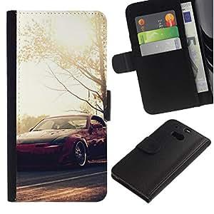 // PHONE CASE GIFT // Moda Estuche Funda de Cuero Billetera Tarjeta de crédito dinero bolsa Cubierta de proteccion Caso HTC One M8 / N1ssan 350z Fairlady /