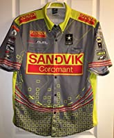 LG Spencer Massey NHRA Don Schumacher Pit Crew Shirt Drag Top SANDVIK