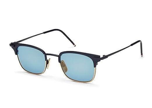 fcd28a9631 Amazon.com  Thom Browne TB-102-C-T-NVY-GLD-49 Sunglasses  Clothing