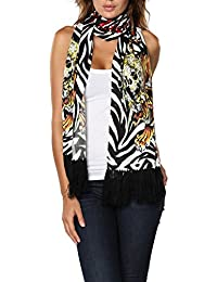 Women's Soft Knit Warm Long Scarf Leopard Animal Printed Colors