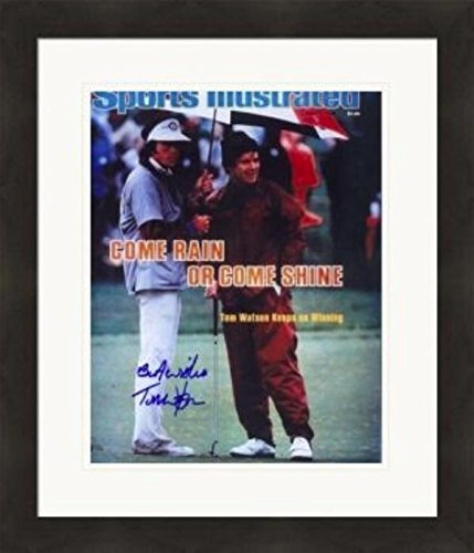 Tom Watson autographed magazine cover framed matted (Golf Hall of Famer) #SC7 Autographed Golf Equipment