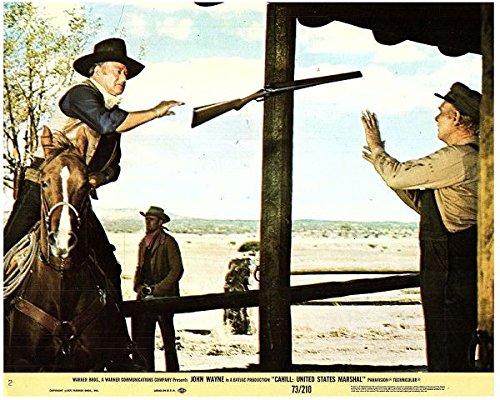 Cahill United States Marshall Original Lobby Card John Wayne Throws Rifle To Man from Silverscreen