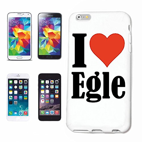"""Handyhülle iPhone 4 / 4S """"I Love Egle"""" Hardcase Schutzhülle Handycover Smart Cover für Apple iPhone … in Weiß … Schlank und schön, das ist unser HardCase. Das Case wird mit einem Klick auf deinem Smar"""