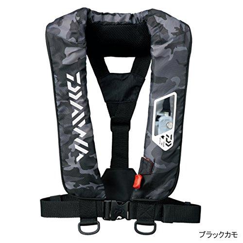 ダイワ(Daiwa) ライフジャケット ウォッシャブル 肩掛けタイプ手動・自動膨脹式 ブラックカモ DF-2007 フリーサイズの商品画像