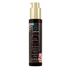 SOL by Jergens Self Tanner Body Bronzer, For All Unique Skin Tones, Sunless Tanning, Wash-off Luminous Body Bronzer, Natural-Looking Self-bronzer and Tan Intensifier for Instant Bronze, 3.4 Ounce