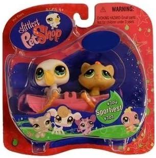 Littlest Pet Shop Exclusive Pelican #707 and Kitten #706