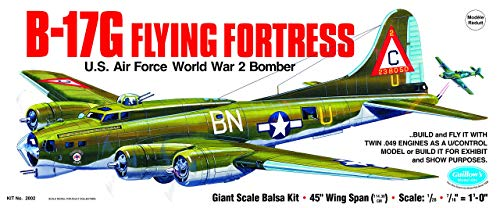 Guillow's Boeing B-17G Flying Fortress Model Kit (Renewed)