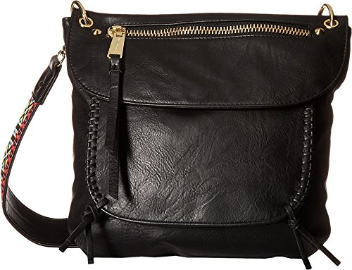 197cafa4254 Steve Madden Women s BChange Crossbody Distressed Black Crossbody ...