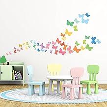 Decowall,DW-1613,Sweet Butterflies peel & stick wall decals stickers