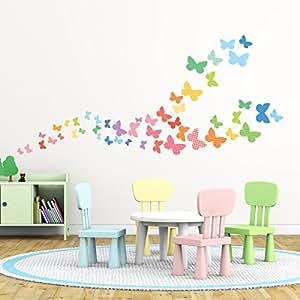 Decowall dw 1613 mariposas dulces vinilo pegatinas for Pegatinas decorativas pared infantiles
