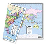 """US and World Desk Map (13"""" x 18"""" Laminated) for"""