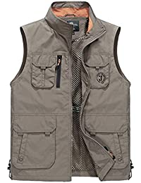 Men's Outdoors Quick-Drying Travel Sports Pockets Vest Waistcoat Outerwear
