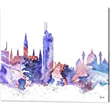 Vienna Watercolor Canvas Print Modern Canvas Wall Art for Home and Office Decoration , 30X40 inch landscape Giclee Artwork No Wrap - Rolled In A Tube