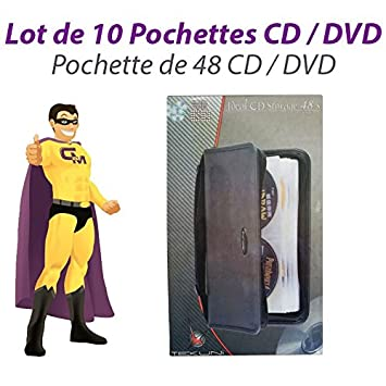 TEKUNI - Juego de 10 alforjas almacenaje 48 CD Fundas archivadores cd-6148 DVD Pro Neuf: Amazon.es: Electrónica