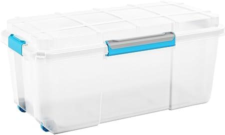 Caja de almacenaje Scuba Dry Box de 80 litros, de plástico, resistente al agua, a prueba de polvo, apto para almacenar objetos húmedos. Unidad móvil, con ruedas. Perfecto para bohardillas.: Amazon.es: Hogar