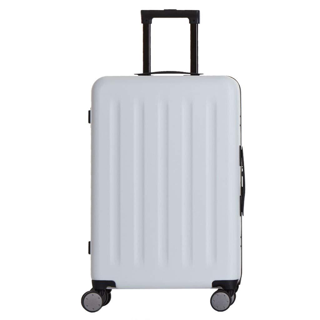 ZXXZ トロリーケース- 人および女性アルミニウム旅行トロリー箱、旅行20インチ24インチ搭乗TSAパスワード箱 (Color : White, Size : 20in) B07T9LVGNT White 20in
