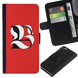 JackGot ( B L Be significado inicial de la caligrafía ) Apple (4.7 inches!!!) iPhone 6 / 6S la tarjeta de Crédito Slots PU Funda de cuero Monedero caso cubierta de piel