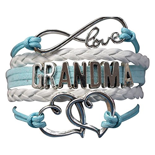 Grandma Bracelet, Grandma Jewelry Makes Great Grandma Gifts(Blue & Pink Available) (Blue)