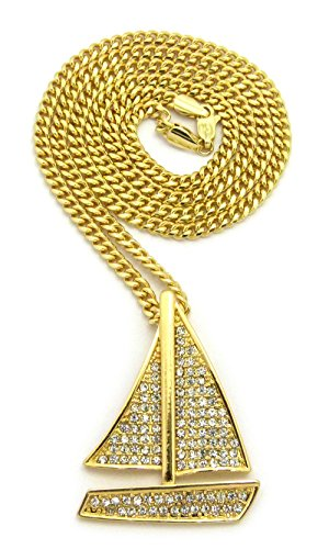 Sailing Boat Costume (Iced Out Sailing Yacht Pendant 24