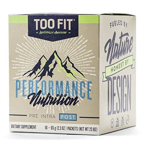 Too Fit ® POST | Natural Post Workout Recovery Supplement Drink Powder | Organic Grass-Fed Whey Protein With Collagen Peptides, Keto, Paleo, BCAA, MCT Oil Powder | Vanilla Cinnamon, 10 Single Servings