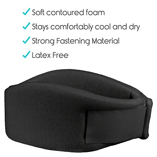 Vive Neck Brace - Cervical Collar - Adjustable Soft Support Collar Can Be Used During Sleep - Wraps Aligns and Stabilizes Vertebrae - Relieves Pain and Pressure in Spine (Black) by VIVE (Image #7)