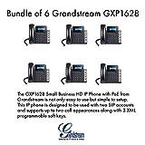 Grandstream GXP1628 Bundle of 6 Gigabit IPphone 2 Lines PoE LCD display HD Audio